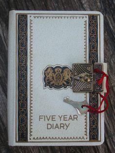 1960's 5 Year Locking Diary with Key