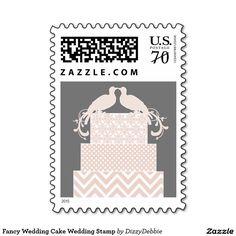 Fancy Wedding Cake Wedding Stamp