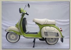Classic and Vintage Motorcycles: Classic Vespa scooter from 1972