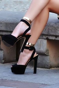 Ankle Cuffs  Heels  Sexy! www.louboutinboots.at.nr   Fashion high heels, fashion girls shoes and men shoes ,just here with $129 best price