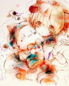 Mafumafu and Mafuteru Chibi Anime, Kawaii Chibi, Manga Anime, Anime Art, Cute Anime Boy, Anime Guys, Animé Fan Art, Animal Sketches, Fire Emblem