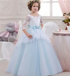 Noble Princess Dress Elegant Girls Evening Dresses For Girls Party Dress For Girls Ball Gown Baby Celebration Clothes Get the latest womens fashion online new styles every day from dresses, and more . shop womens clothing now! Girls Evening Dresses, Wedding Dresses For Kids, Formal Dresses For Weddings, Dresses Kids Girl, Girls Party Dress, Wedding Party Dresses, Wedding Lace, Dress Girl, Prom Dresses