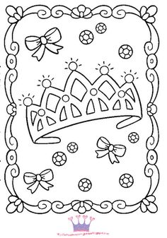 princess coloring pages - Princess Tea Party Coloring Pages