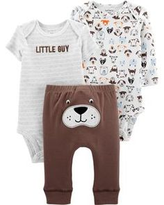 bee7a4c5313ea 3-Piece Dog Little Character Set Carters Baby Boys, Baby Gear, Onesies,