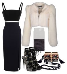 Untitled #1608 by moxieremon on Polyvore featuring polyvore fashion style Tanya Taylor Tom Ford Zimmermann Giuseppe Zanotti Judith Leiber clothing