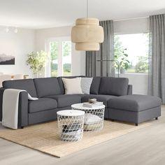 Sofas VIMLE corner sofa bed - no end, Gunnared medium gray - IKEA Germany Your Reference Guid Diy Sofa, Sofa Design, Ikea Vallentuna, Ikea Vimle Sofa, Sofa Back Cushions, Modular Corner Sofa, Storage Footstool, Large Sofa, Dining