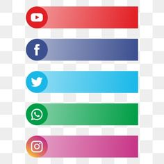 All social media banner logo for text PNG and Vector