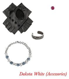 """Dakota White (Accessories)"" by shadow-x on Polyvore featuring Black, Hot Topic and Kabella Jewelry"