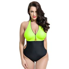 d6cd7dc3feac2 Runbox Womens Colorblock Monokini OnePiece Swimsuit LUS 1214 Green    You  can find out more details at the link of the image. Plus Size