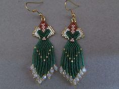 Celtic Beaded Angel Earrings by DsBeadedCrochetedEtc on Etsy