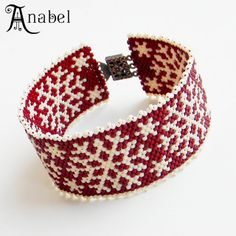 Bracelet new year winter theme gift beads Anabel