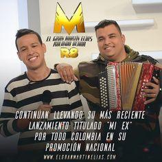 """EL GRAN @MARTINELIASDIAZ Y @ROLANDO_8A CONTINÚAN LLEVANDO SU MÁS RECIENTE LANZAMIENTO TITULADO """"MI EX"""" POR TODO COLOMBIA EN SU PROMOCIÓN NACIONAL  12 de marzo lanzamiento del álbum en Cúcuta instalaciones del Colegio Salesiano Gracias Bogotá! así se despidieron de su primera etapa promocional en la capital del país EL GRAN MARTÍN ELIAS y ROLANDO OCHOA herederos de toda una tradición musical y quienes llegaron el pasado 1 de marzo para cantar de su propia voz el éxito que ya suena con fuerza…"""