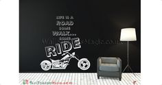 Life is a Road Vinyl Wall Sticker Vinyl Decals Wall Art Transfers-Removable