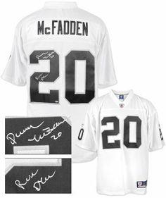 ... Darren McFadden signed Oakland Raiders White Reebok Premier EQT Jersey  Run DMC- McFadden Hologram . 456c16d63