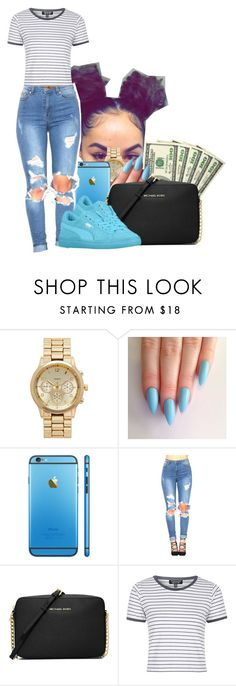 """1.30.16"" by heavensincere ❤ liked on Polyvore featuring Forever New, MICHAEL Michael Kors and Topshop"