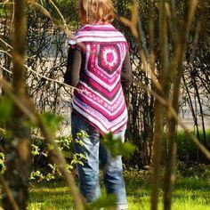 One more crochet pentagon vest #crochet #pentagon #crochetvest #lovecolors #madetoorder #virkattu #MianVirkkuut #virkattuliivi