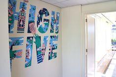 Mural at Atlassian Amsterdam – Lienke Raben Illustration