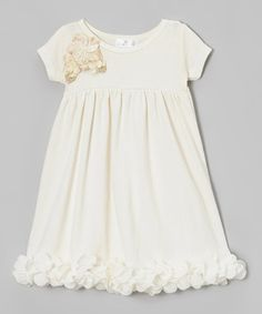 Another great find on #zulily! Ivory Sequin Petal Dress - Infant by Truffles Ruffles #zulilyfinds