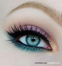 Spring inspired eye makeup influenced from the ocean mist to the lovely pink roses. Visit trend2wear.com to witness many such examples of elegance and charm.  #Eyemakeup #eyeshadow #makeup