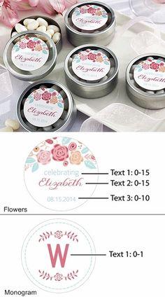 Shower Favor Loose Tea Favor Favor Tins With Botanical Greenery Labels Wedding Favor Mint Tins SG Party Party Favor Tin TN