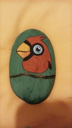 红色小鹦鹉~【淘宝店铺:岩颜手绘】