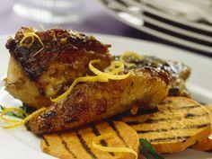 Perlhuhn mit Süßkartoffeln vom Grill