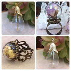 Glass Globe Apothecary Jewelry Findings