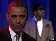 """Obama 'Slow Jams The News' With Jimmy Fallon -- """"The Barachness Monster isn't buyin' it."""""""