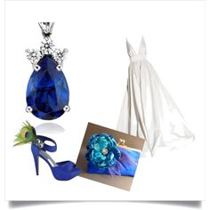 Something blue..., created by jessica-rosado on Polyvore