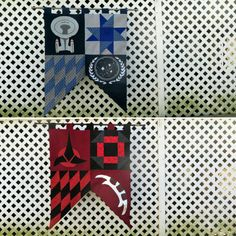 My Star Trek banners: The United Federation of Planets and the Klingon Empire, both available on Etsy. #strtrek #tng #nerd #geek #etsy #etsygeek #geekery #scifi #space #klingon #picard #enterprise #fabric #sewing #hangthebastards #handmade #wallart #decor #wallhanging #banner #worf