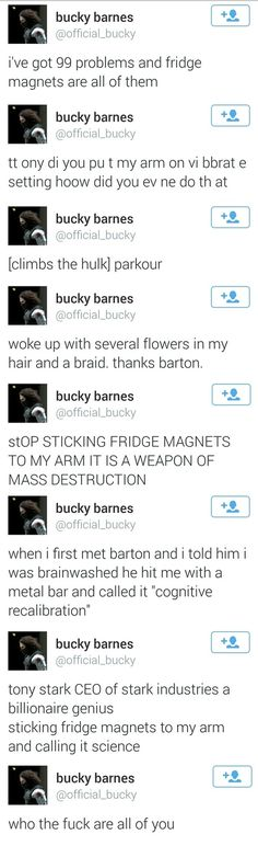 Bucky learns about life with the avengers.