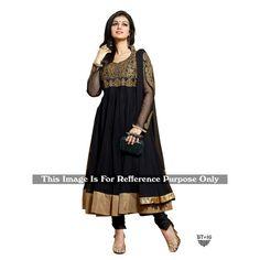 Diwali Special Designer Black Embroidered Net Anarkali Suit-RDHP172-BT16(RD-RDHP172)