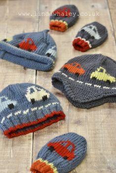 Boys Knitting Patterns Free, Knitting For Kids, Knitting For Beginners, Knitting Projects, Hand Knitting, Knitted Hats Kids, Kids Hats, In Natura, Baby Boy Hats