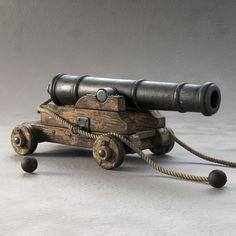 3ds max cannon pirate ship: