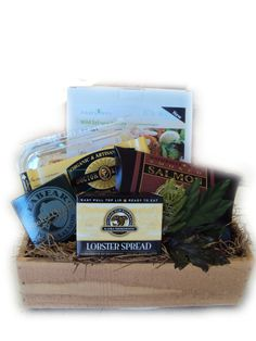 Gone Fishin' Healthy Seafood Gift Basket for men