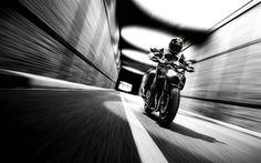 Kawasaki Z900, 2017, rider, superbikes, speed