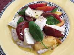 Cooking with Amy: A Food Blog: Tomato Peach & Tofu Salad Recipe