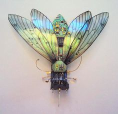 Beautiful Winged Insects Made of Discarded Circuit Boards - My Modern Met  Artist - Julie Alice Chapell