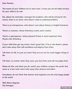 A school principal in Singapore sent this to parents - 9GAG