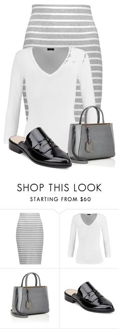 """""""Untitled #23012"""" by nanette-253 ❤ liked on Polyvore featuring Bailey 44, Joseph, Fendi and French Connection"""