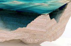 tafel hout glas design2 Deze beeldschone tafel is gemaakt van gelaagd glas en hout