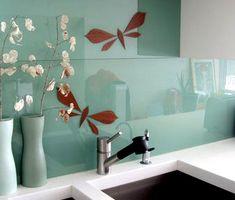 39 fascinating back painted glass images kitchen backsplash glass rh pinterest com