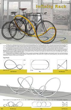 Infinity bike rack