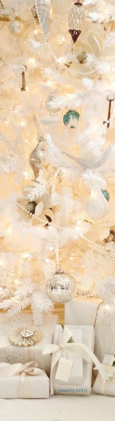 Beautiful white tree