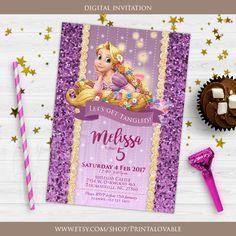 DIGITAL Rapunzel Invitation, Rapunzel Birthday Invitation, Rapunzel party, Rapunzel birthday, Rapunzel printables by Printalovable on Etsy https://www.etsy.com/listing/521763483/digital-rapunzel-invitation-rapunzel