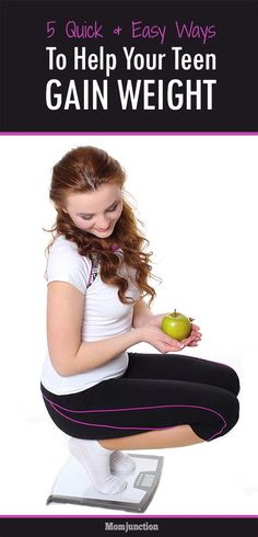 How To Gain Weight For Teens - Facts And Tips : Does your teen look skinny? Need information on how to gain weight for teens? Here are healthy, easy and fast weight gain and maintaining tips. Read on! Lose Weight Quick, How To Gain Weight For Women, Tips To Gain Weight, Gain Weight Fast, Weight Gain Meals, Put On Weight, Healthy Weight Gain, Lose Fat, Weights For Women