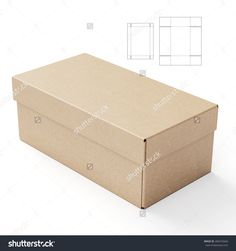 Lid And Tray Box With Die Cut Template Stock Photo 284372660 : Shutterstock