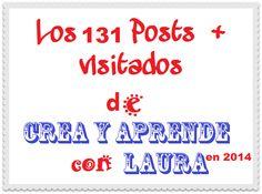 Crea y aprende con Laura: Los 131 posts más visitados en Crea y aprende con ... Apps, Blog, Math Equations, Create, Single Wide, Cook, Tools, Recipes, Blogging