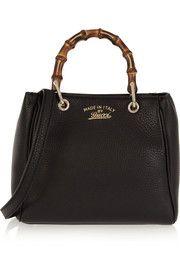Gucci Bamboo Shopper mini textured-leather shoulder bag