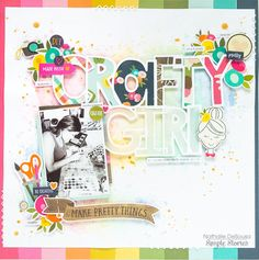 Scrapbook Layout Featuring Simple Stories designed by Nathalie DeSousa Project Life Scrapbook, Baby Scrapbook, Scrapbook Paper Crafts, Scrapbook Albums, Scrapbook Sketches, Scrapbook Page Layouts, Scrapbooking Ideas, Crafty Craft, Crafting